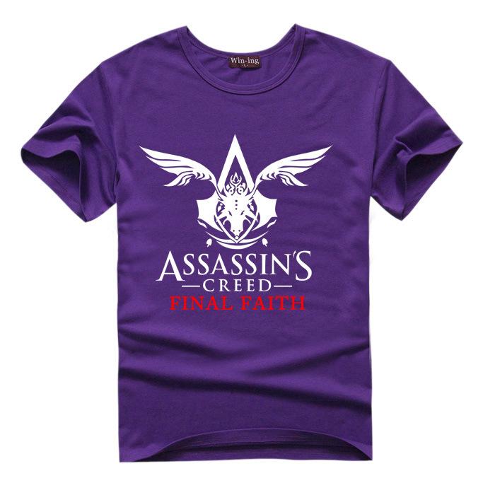 High Quality T-shirt T Shirt Assassins Creed AC Brotherhood Game world of tank Shilf Men Short Tops Tees hip hop T204(China (Mainland))