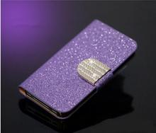 2016 New Luxury Flip Leather Case Diamond Buttons Cover Protective Sleeve Mobile Phone Accessories  For Nokia XL case