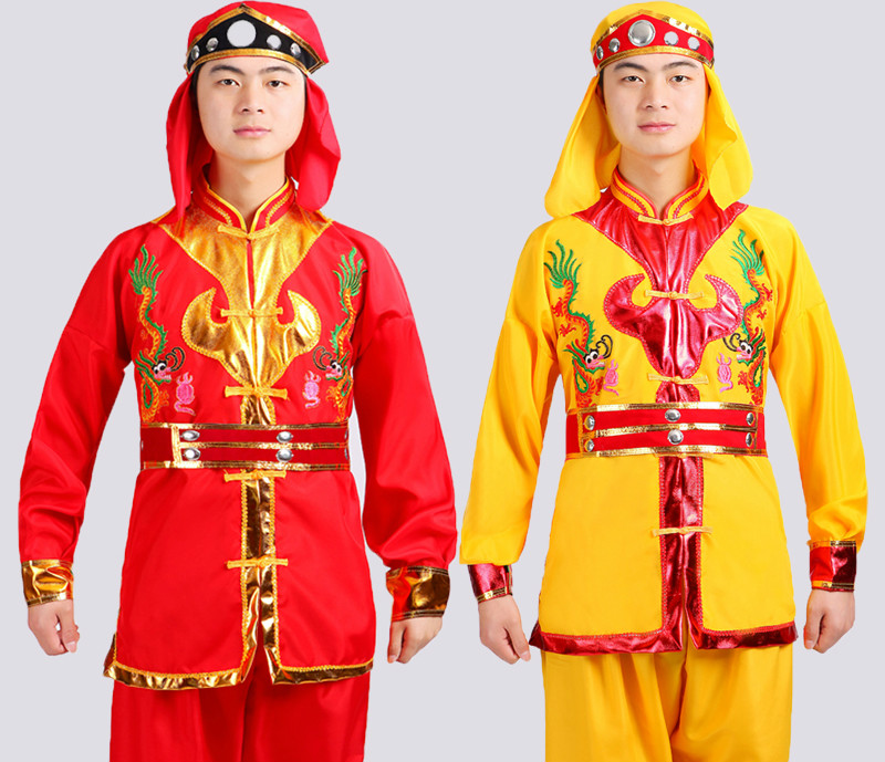 Men Lion Dance Costume Chinese Waist Drum Dance Uniform Male Yangko Dance Costume Chinese National Dragon Dance Clothing 89(China (Mainland))