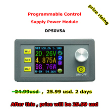 RD DP50V5A Constant Voltage current Step-down Programmable Power Supply module buck Voltage converter color LCD voltmeter(China (Mainland))