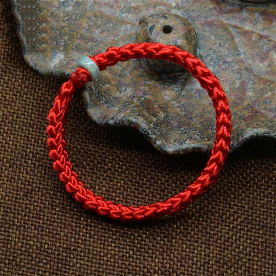 2016 New Chinese Style Men Women Unisex Bracelet Braided Lucky Red String Bracelet Handmade Weaving Bracelet(China (Mainland))