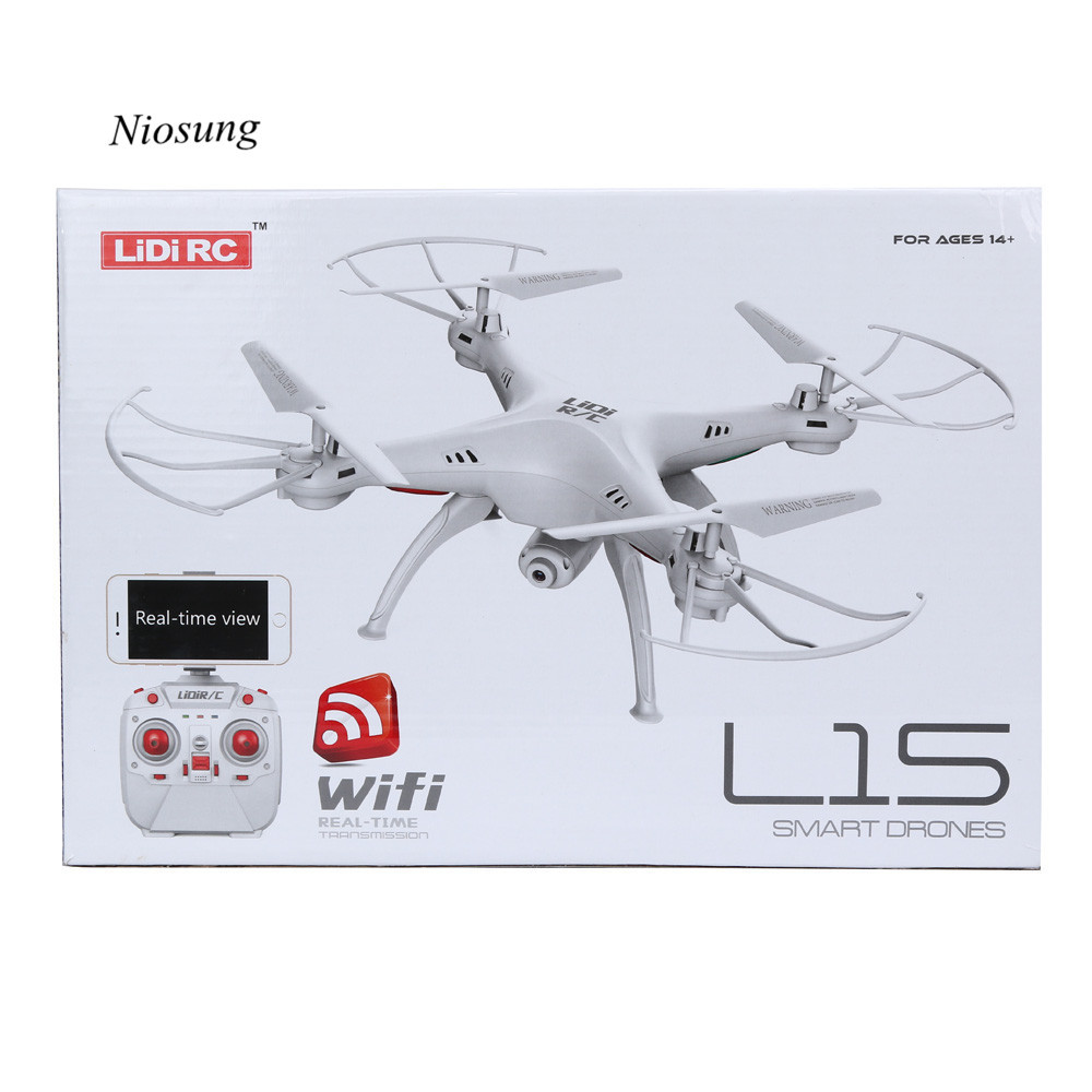 Hot Sale LiDiRC L15W 4CH HD Camera WiFi FPV 2.4G 6-axis Gyro RC Quadcopter Altitude Hold