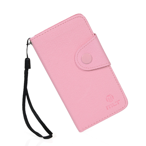 luxury Leather Wallet Card Pouch Style Devise Case Cover for APPLE IPOD TOUCH 5 FREE SHIPPING(China (Mainland))