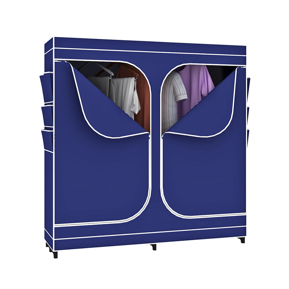 portable double door closet storage bedroom space clothes organizer