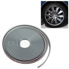 Free Shipping Anti-Scratch Wheel Rim Edge Protection Guard Tape For Cars/Motorbikes Gray(China (Mainland))