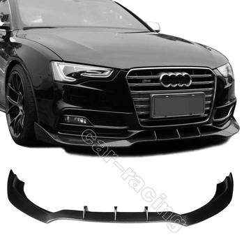 Carbon Fiber Front Bumper Lip Fit for Audi S5 Bumper 2013 2014