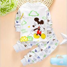 Buy Spring Newborn baby pajamas Girl boys pyjamas clothing children Pajamas sets Long johns kids sleepwear clothes pijamas suits for $4.91 in AliExpress store