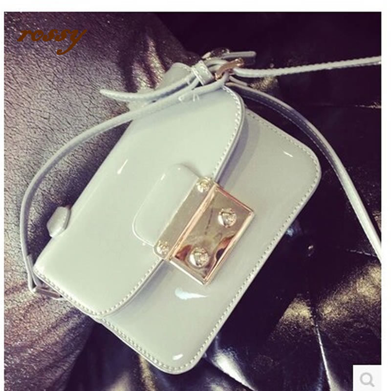 Messenger bag Europe America brand paint ancient ways patent leather casual solid pillow messenger women - mis zhao's store