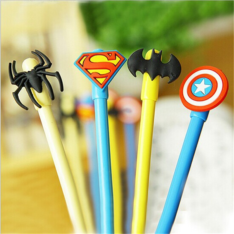 4pcs Cute Captain America hero movie Gel pen Kawaii school supplies Creative Gifts learning stationery Student prizes gift<br><br>Aliexpress