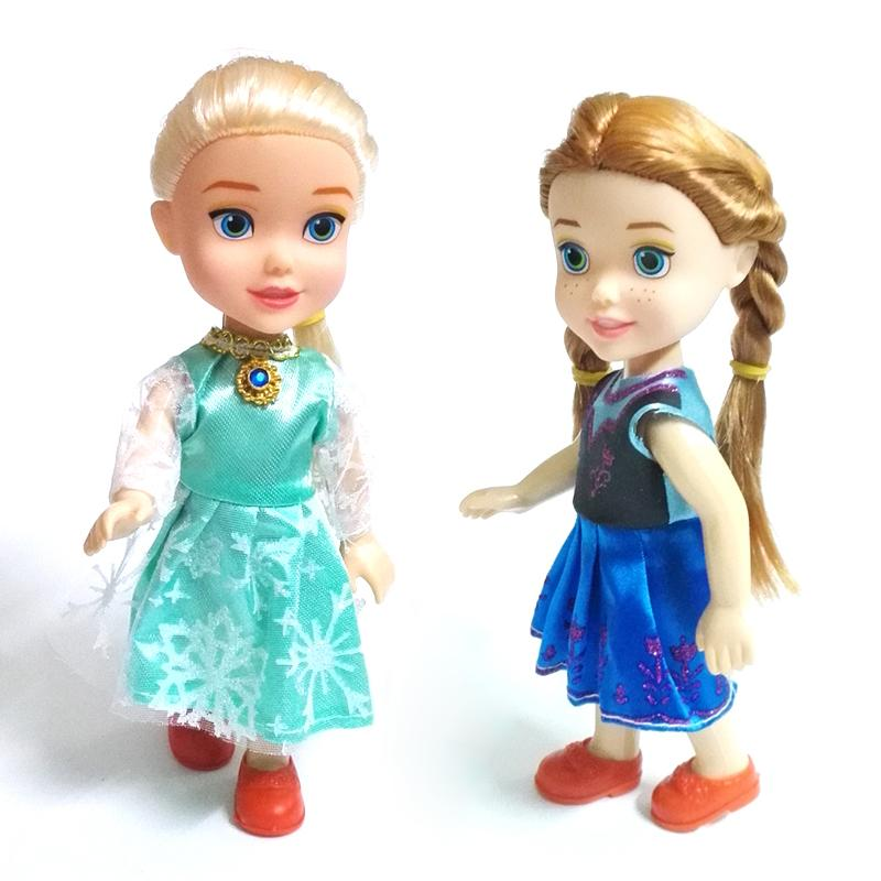 NEW 1pcs Mini Princess Elsa Anna Baby Dolls Kids Cartoon Toys For Children Girl Doll The Snow Queen Toy(China (Mainland))