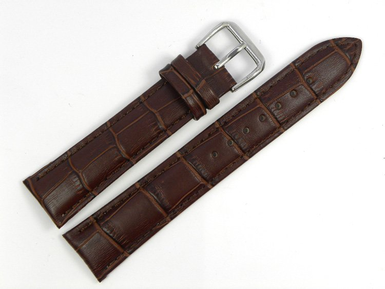 Здесь можно купить  24mm (Buckle 22mm) New Brown High Quality Waterproof Crocodile Pattern Genuine Leather Watchband Watch Strap Bracelets SA71 24mm (Buckle 22mm) New Brown High Quality Waterproof Crocodile Pattern Genuine Leather Watchband Watch Strap Bracelets SA71 Ювелирные изделия и часы