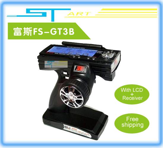 Flysky fs gt3b FS-GT3B 2.4Ghz 3ch 2.4 RC System Gun remote control transmitter and receiver For RC Car Boat   Free Shipping