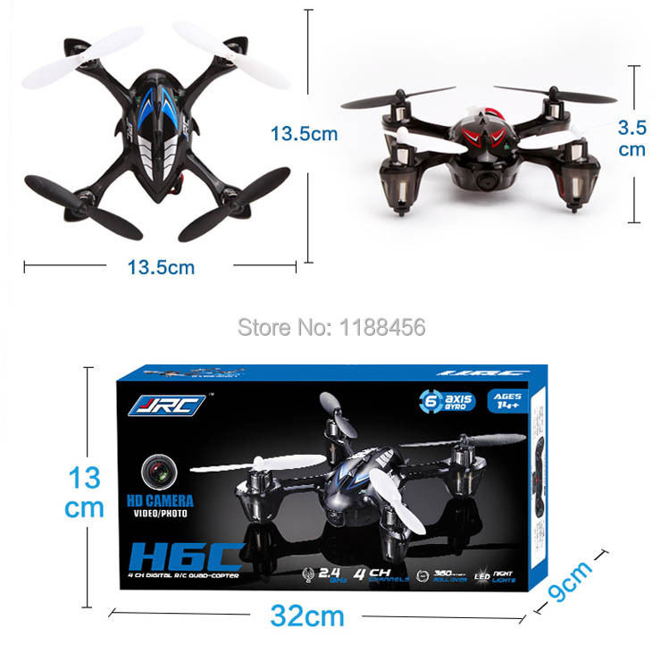 Original JJRC H6C 6-Axis 4CH RC Quadcopter with 2MP Camera 2.4GHz Remote Control Toys Children's Toys