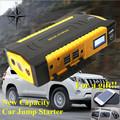 2017 Multi Function Portable 16000mAh Car Jump Starter 12V Starting Device Mobile 4USB Power Bank Compass