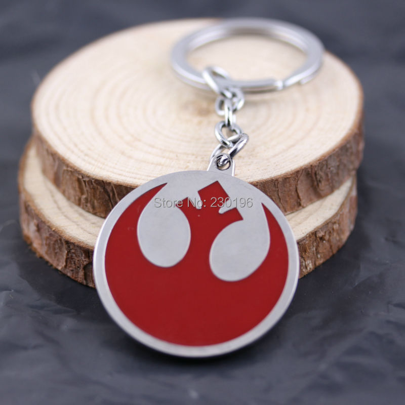 Classic Movie Series Star Wars Alliance Starbird Logo Keychains Metal Red Pendant Great Gift For Fans Free Shipping(China (Mainland))