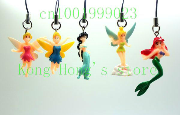 Lot 10 PCS lovely TinkerBell Cell Mobile Phone charms key chain Free Shipping(China (Mainland))