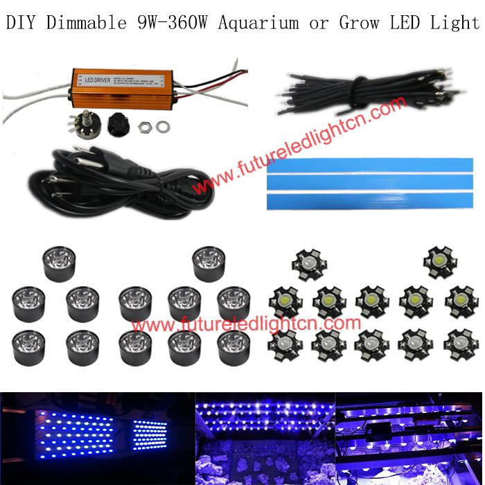 1lot Dimmable 30w Led Aquarium Diy Parts Ac 110v 220v