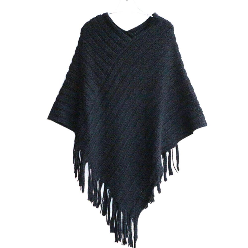 popular fringe poncho sweater buy cheap fringe poncho. Black Bedroom Furniture Sets. Home Design Ideas