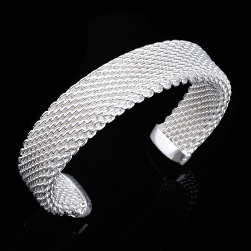 FREE SHIPPING 2015 Trendy metal chain bracelets & bangles 925 sterling silver Bracelet Bangle For Women accessories Jewelry(China (Mainland))