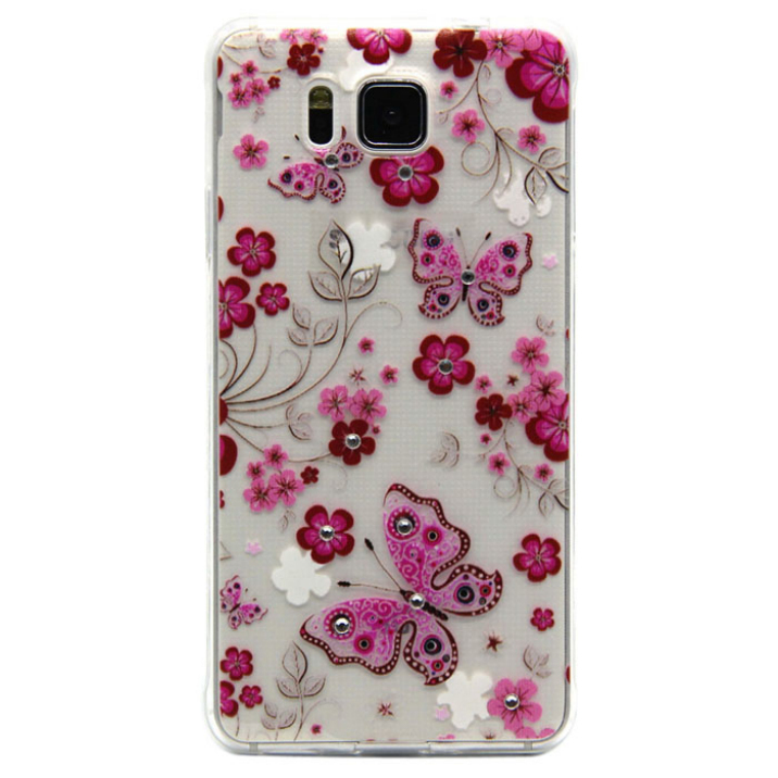 Best Deal 2015 Fashion Painted Pattern Diamond Soft TPU Back Case Cover For Samsung Galaxy Alpha Alfa G850 1pc(China (Mainland))
