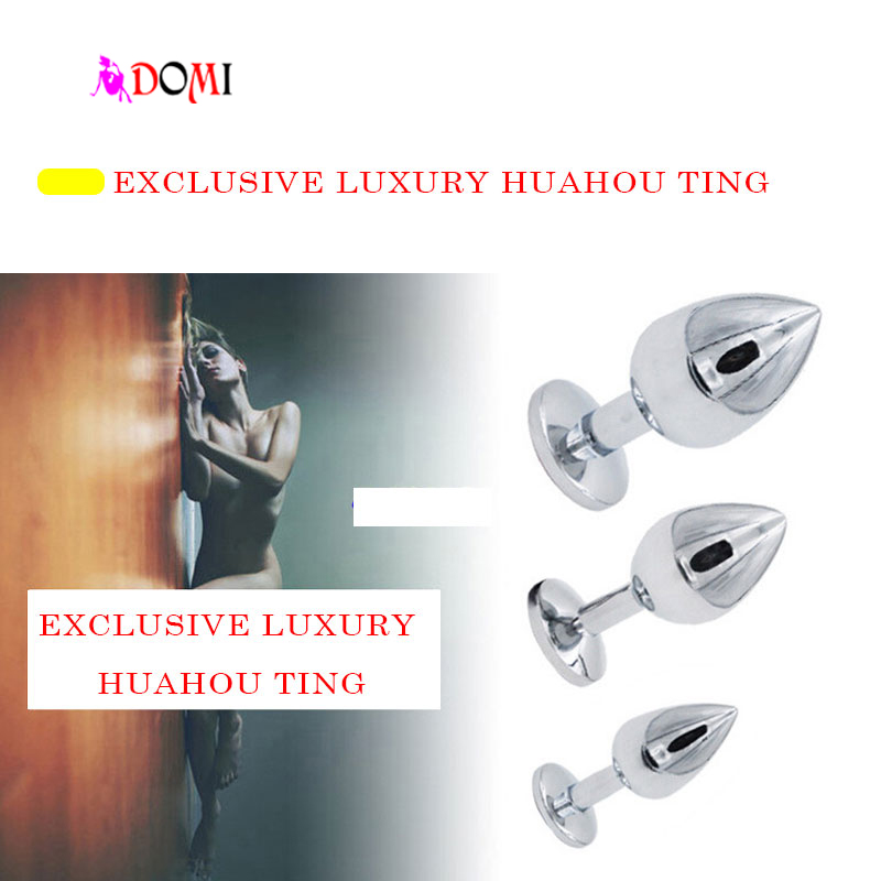 3PCS Small Middle Big Plus Sizes Stainless Steel Metal Anal Plug With Diamonds Anal Dildo Sex