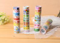 10 DIY Kawaii Washi Adhesive Cartoon Decorative Sticker Ceco Sticky Tape Scrapbooking Cintas Adhesiva Stationery Nastro Roll