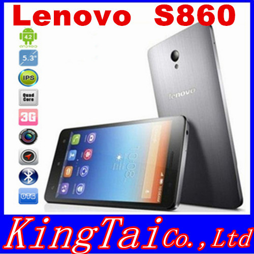 "Original Lenovo S860 WCDMA Phone 4000mAh battery Quad Core MTK6582 1.3GHz 5.3"" IPS 720P Android 4.2 1GB 16GB 8.0MP Camera OTG(China (Mainland))"