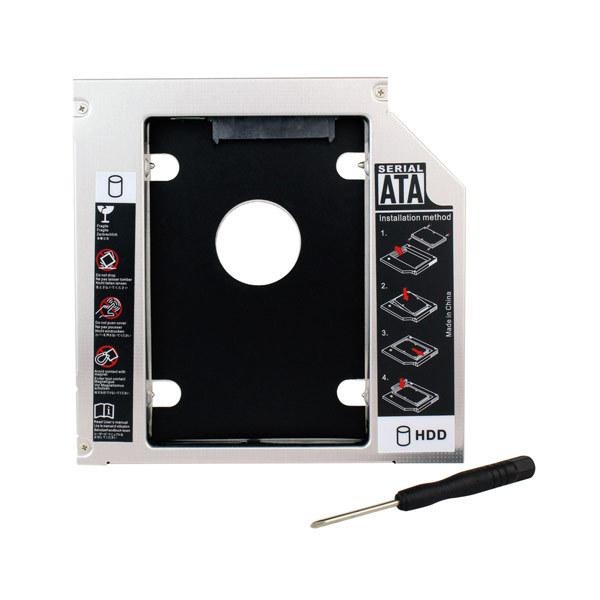 """Hot HDD Bay 12.7mm SATA to SATA 3.0 SSD 2.5"""" Hard Disk Driver External Enclosure CD DVD Optical Bay Laptop D5428D Eshow(China (Mainland))"""