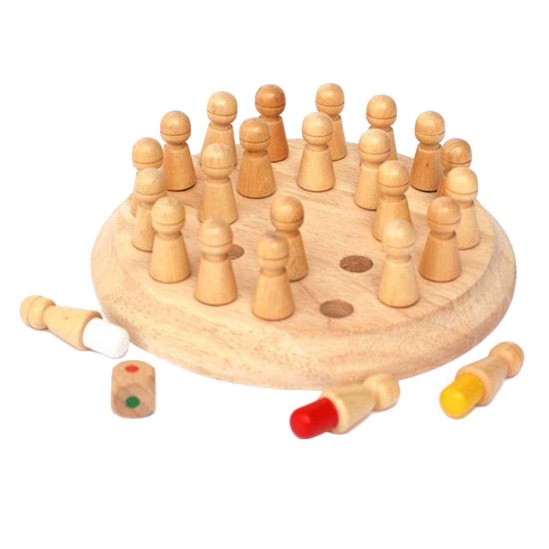 Kids Memory Match Stick Chess Wooden Chess Checkers Board Game Baby Toy Educational Toys(China (Mainland))