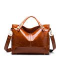 High end boutique PU Bag Brand Fashion Women Messenger Bags Oil Wax Patent Luxury Handbag