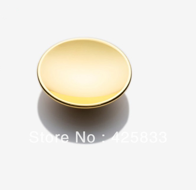 10 pcs Single Golden Finished Round Drawer Knobs Cabinets Modern Wardrobe Armoire Desk Knobs Kids Dresser Pulls Closet Knobs(China (Mainland))