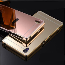 Buy Sony Z3 Compact Luxury Gold Mirror Metal Aluminum+ Acrylic Back Cover Case Sony Xperia Z1 Z2 Z3 Z4 Shell Phone case for $2.98 in AliExpress store