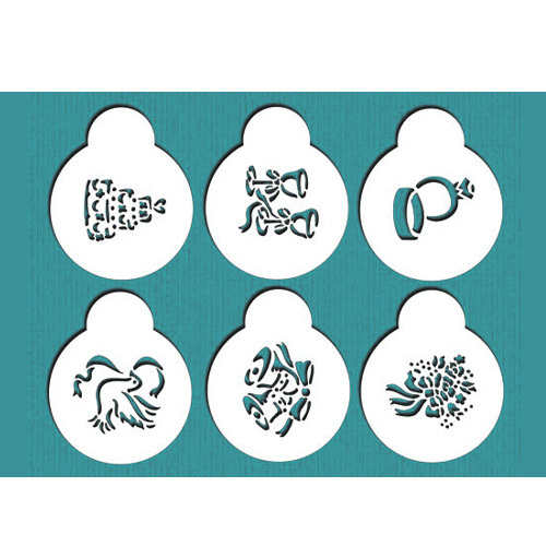 Cake Decorating Number Stencils : Wedding Cookie Stencil Set, Cookie Stencil,Stencil for ...