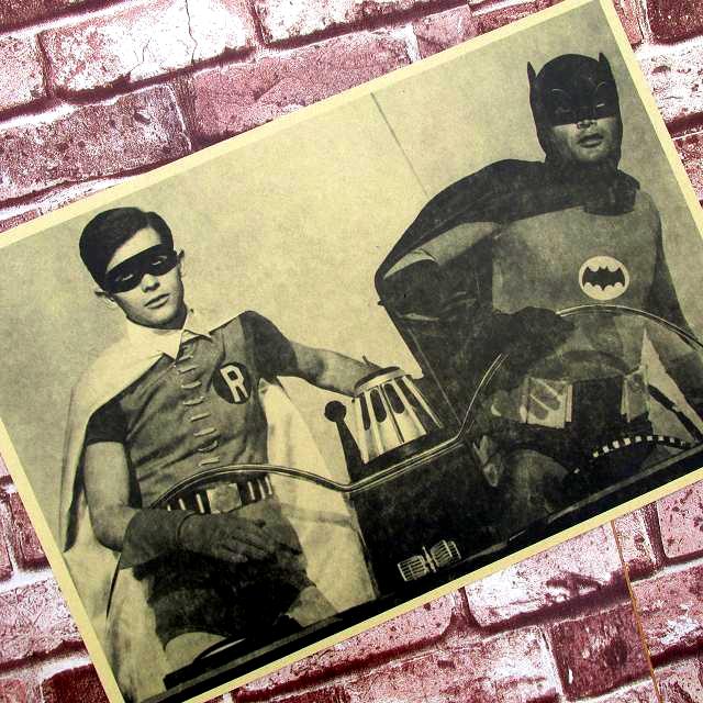 Motorboat camera superman batman the totem Vintage Decorative Posters Kraft Home Decor Gift Wall Sticker Funs Poster(China (Mainland))