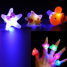Children Kids LED Flashing Light Up Glow Jelly Rings Blinking Party Toy Fun Party Decoration High Quality(China (Mainland))