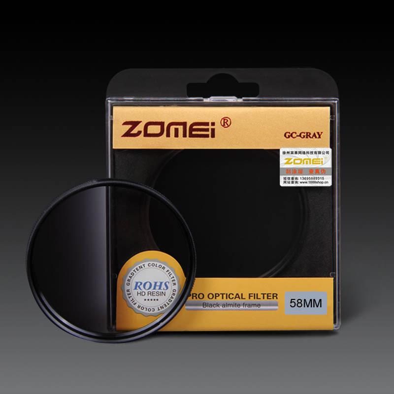 Original Zomei 58mm Pro Optical GND Filter Gray Graduated Neutral Density GC Filter for Canon Nikon DSLR 58 mm Camera lens(China (Mainland))