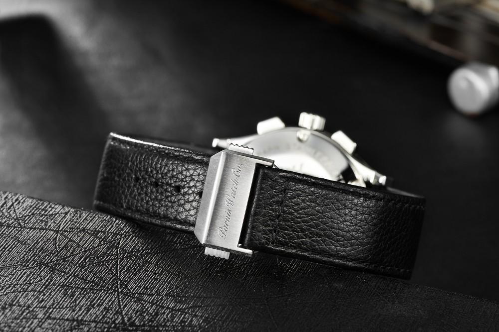 Парнис 41 мм PVD Дело Хронограф мужские Часы бесплатная доставка