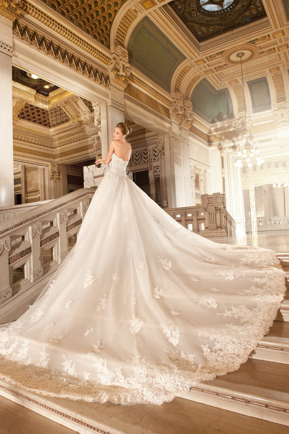 Wedding Gowns With Cathedral Trains Wedding Dresses In