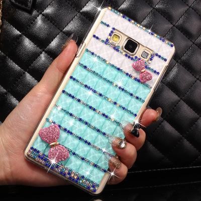 Trendy Hot Styles Bling Crystal Rhinestone Hard Plastic Cover Case For Samsung Galaxy J1 J100(China (Mainland))