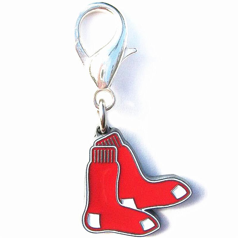 High Quality Enamel Finish Boston Red Sox Collar Charm Boston Red Sox Lobster Claw Charm(China (Mainland))