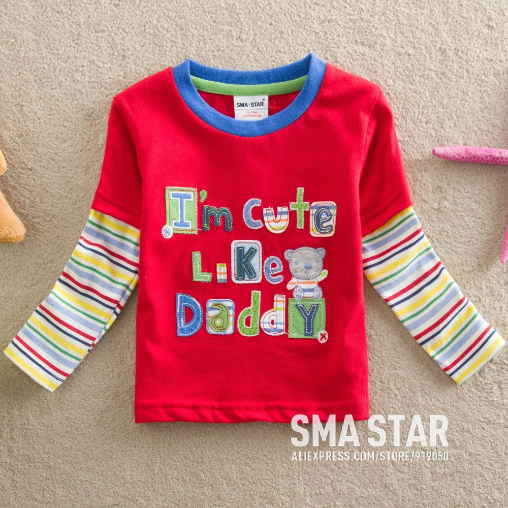 Wholesale Kids Boys Clothes Lote Letter Embroidered Baby