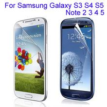 10pcs clear glossy font b phone b font screen protector film For font b Samsung b