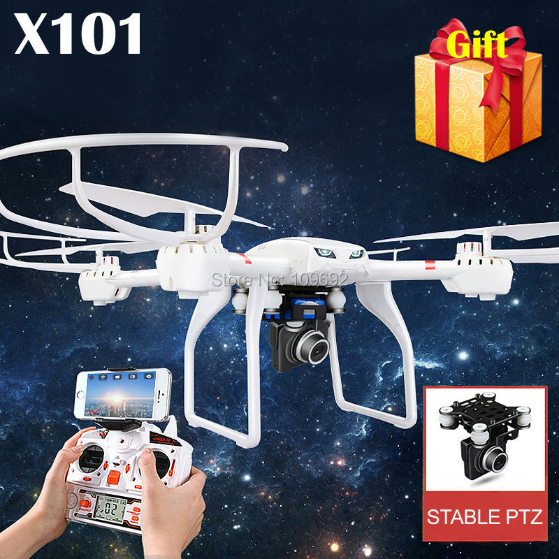 100% Original MJX X101 RC Quadcopter Profession Drone UAV 2.4G 6-Axis Headless Helicopter Can Add C4018 C4010 WIFI FPV HD Camera(China (Mainland))