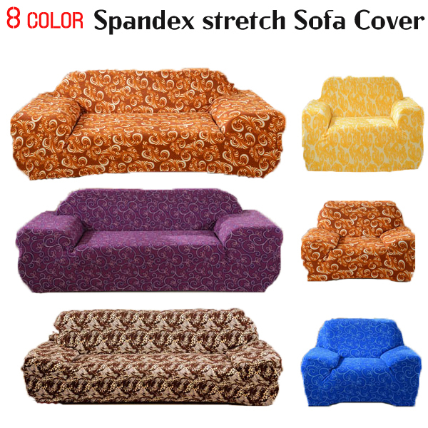 Spendex Stretch Sofa cover Big Elasticity Couch cover Loveseat Chair Funiture Cover 1pc flower Design 8 Colors- Machine Washable(China (Mainland))
