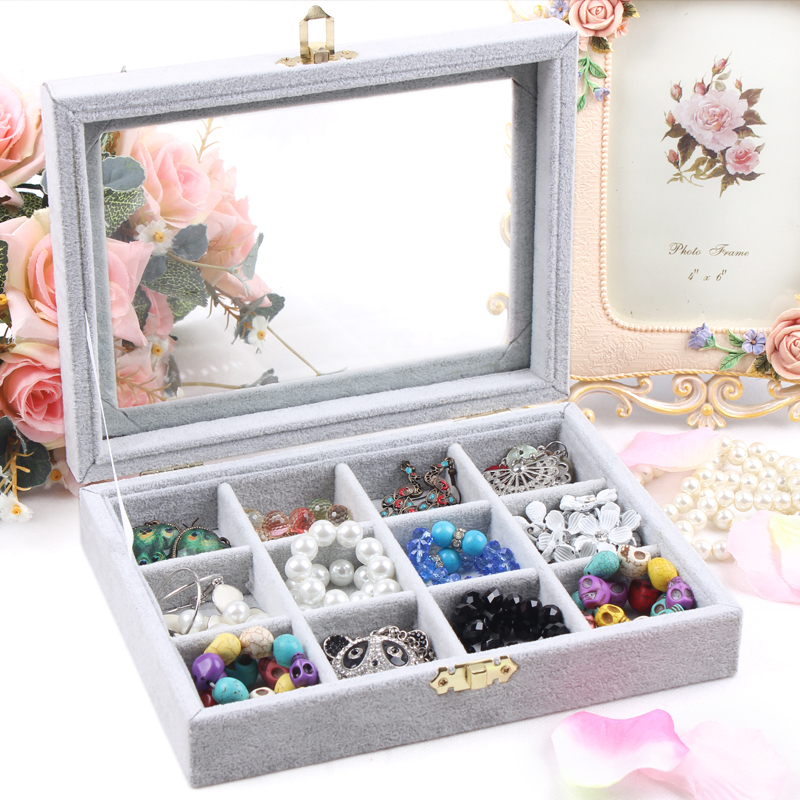 Free shipping Small bracelet jewelry box Cover glass pendant receive a case Fine necklace box set jewelry jewelry display<br><br>Aliexpress