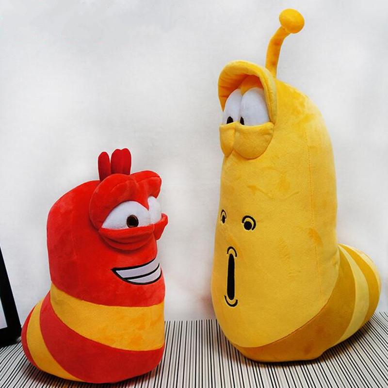 2016 NEW Promotion Korea Fun Insect Slug Creative Larva Plush Toys Doll Cute Larva Stuffed Toy Kids Birthday Gift Retail(China (Mainland))