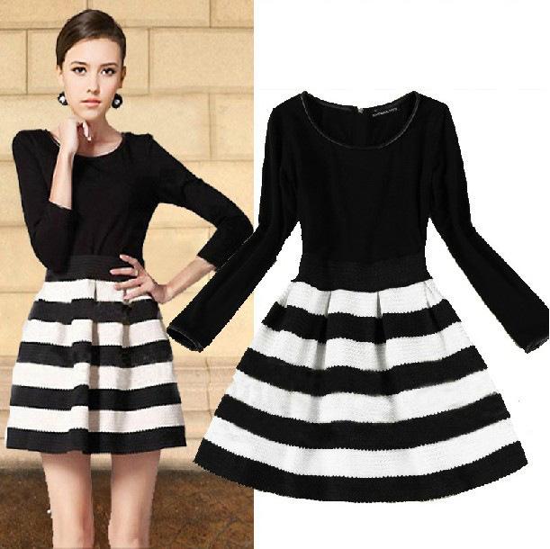 Turmec » cute long sleeve black dresses