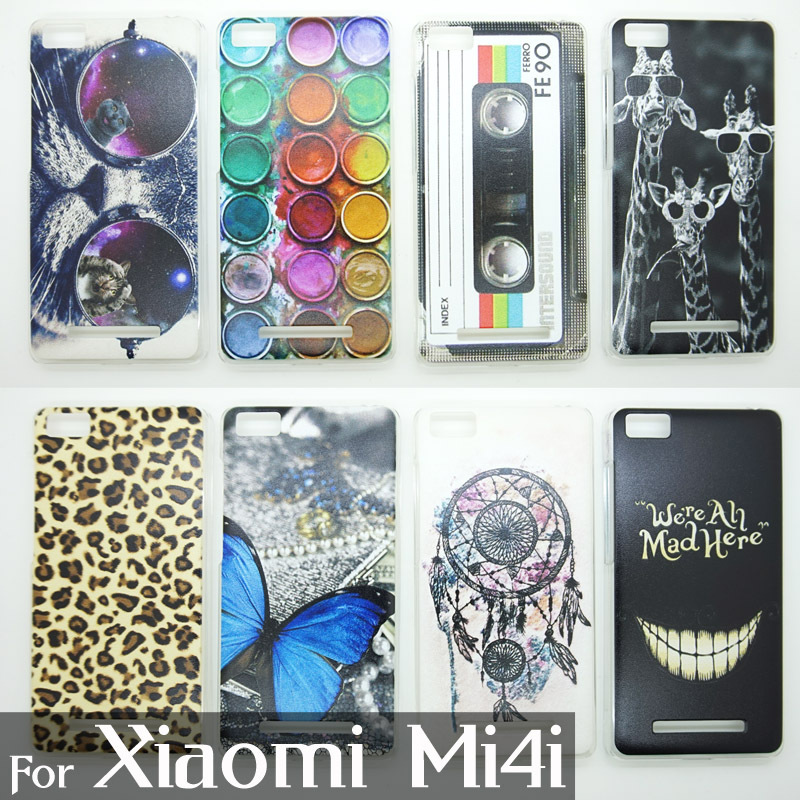 Case For Xiaomi Mi4i Colorful Printing Drawing Phone Protect Cover For Xiaomi 4i Fashion Plastic Phone Cases New Arrival 1135(China (Mainland))