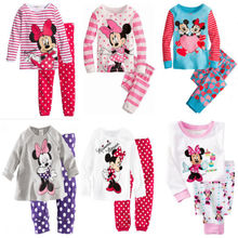 Children Cute Cartoon Baby Kids Girls Nightwear Pajamas Pyjamas Sleepwear Suit
