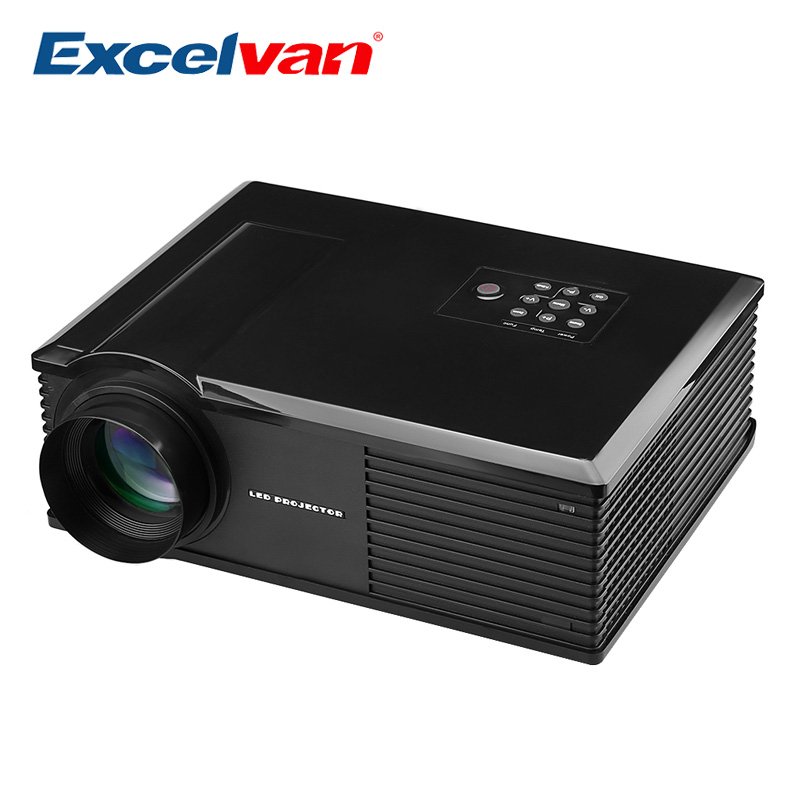 Excelvan PH580 HD Home Theater Projector Multimedia LCD LED Projector 3200Lumen 720P HDMI/ATV/AV/USB/VGA/S terminal/Audio Input(China (Mainland))